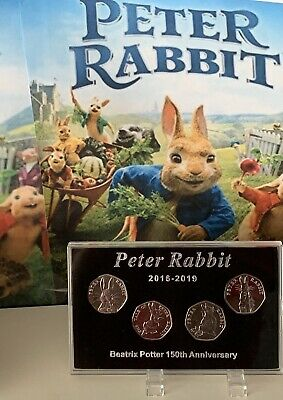 2016 - 2019 Display Case For Series PETER RABBIT 50p Coin (No Coins) + Stands 2