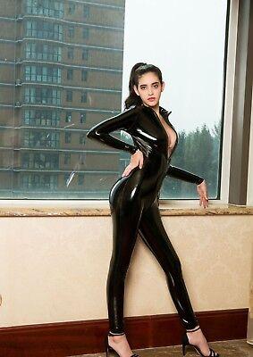 Completo Tuta Mistress Cavallo Aperto Latex Aderente Clubwear Dominatrice Lucido 3