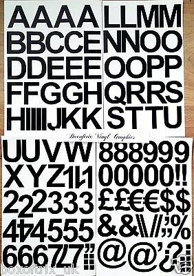 "1"", 2"", 3"", 4"", 5"" Self Adhesive Vinyl Letters & Numbers Upper/lower Stickers 5"