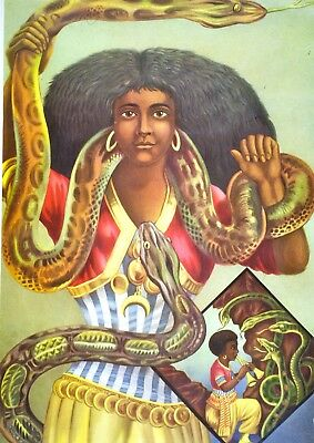 2 separate posters: Mami Wata & her husband Densu Dattatreya Vodun Vodou Voodoo