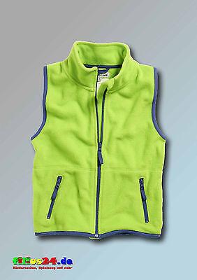 Playshoes Kinder Fleece Weste farbig abgesetzt in vier Farben Gr 74 bis 140 3