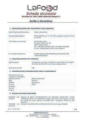 Acido Ascorbico Puro - Vitamina C - 1Kg - E300 - Alimentare -NO OGM- GLUTEN FREE 5