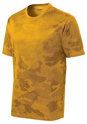 *NEW*SportTek DriFit T-Shirt Workout Performance Moisture Wicking Camo Hex ST370 3