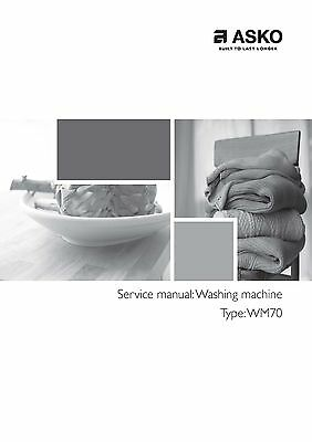 repair manual asko washers dryers choice of 1 manual models in rh picclick com Washer and Dryer in Closet Portable Washer and Dryer