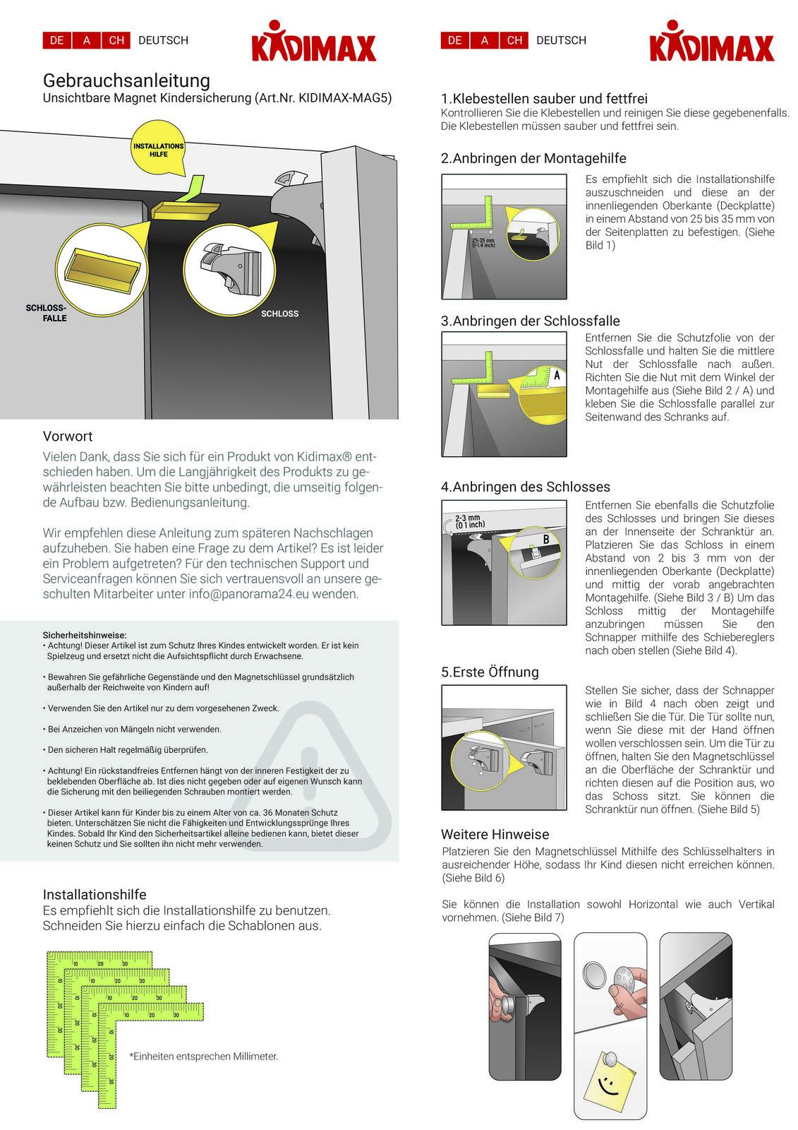 Kindersicherung Magnetisch Schranksicherung Schubladensicherung Baby Unsichtbar 4