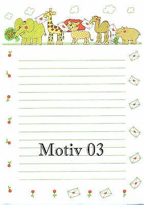 25 BlattNEU DIN A5 dabelino Dinosaurier-Briefpapier-Set für Kinder// Jungen