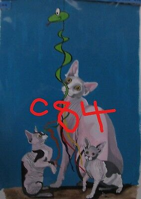 "C102  Original Acrylic Painting By Ljh    ""Tootsie""      Cat 9"