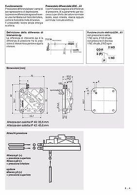 Pressostato Differenziale Aria-Gas  Lgw 3 A1.(Dungs) 4