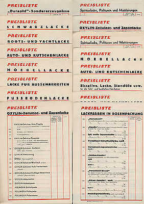HAMBURG Preislisten 1964 Reichhold Flügger&Boecking Lackfabriken Idovernol Email 3 • EUR 18,99
