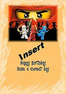 personalised birthday card lego superheroes daughter grandaughter son grandson b