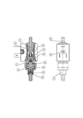Olab Schwingkolbenpumpe 230V//50Hz für Dampfbügelstation Dampfbügeleisen