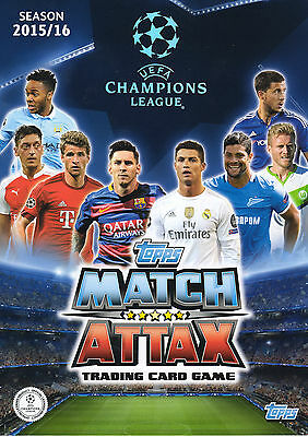 Topps Match Attax Champions League 2015 2016 15 16 Cards #1 To #234