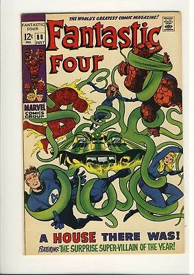 Fantastic Four 88  VF+   JACK KIRBY   The MOLE MAN    Late Silver Age  1969 2