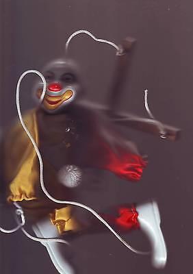 Tete Et Pieds En Porcelaine Marionnette Clown A Fils
