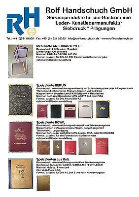 Speisekarte VENEZIA Marke RH Format DIN A4 Hotelmappe Zimmermappe Nr.3