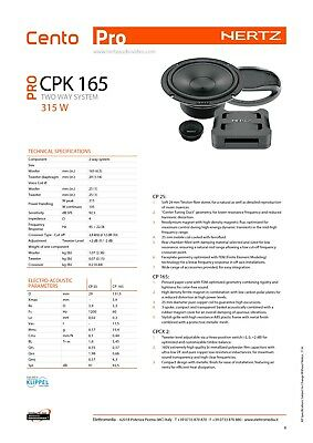Hertz CPK 165 Linea Cento Pro Kit Casse 165 MM Sistema 2 vie 315W Con Griglie 5
