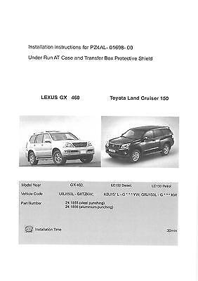 Stahl Unterfahrschutz Motor Toyota Land Cruiser J100 1998-2008