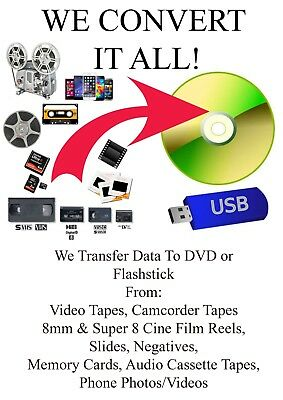 VHS Video, Camcorder Tapes To DVD Transfer Service - All Formats Available 2