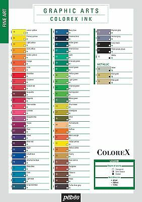 Pebeo colorex Manga Set je 10 x 20ml Flüßigkeit Aquarell Tinte Farben + 3