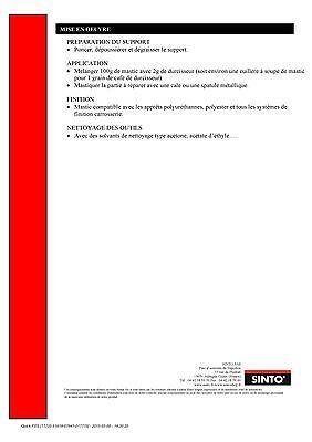 Mastic De Finition Polyester Universel Sintofer  Boite De 2 Kg 3