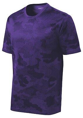 *NEW*SportTek DriFit T-Shirt Workout Performance Moisture Wicking Camo Hex ST370 8