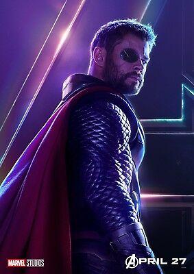 AVENGERS: INFINITY WAR Character Poster Hulk Iron Man Captain America A5 A4 A3 12
