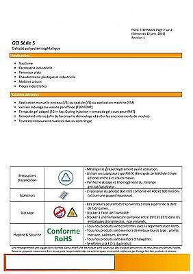 1 kg Gel coat polyester ISO de moulage NOIR RAL 9005 + catalyseur et pipette 3ml