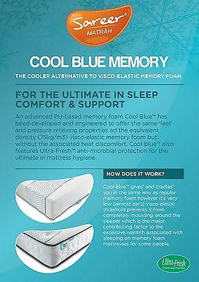 Sareer Cool Blue 1000 Pocket Sprung Memory Foam Mattress and FREE PILLOWS 5