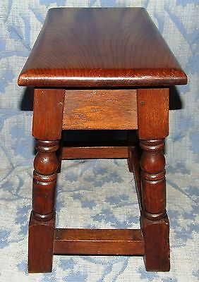 Antique Style SOLID Oak Joint Stool / Occasional Table / Lamp Stand (35)