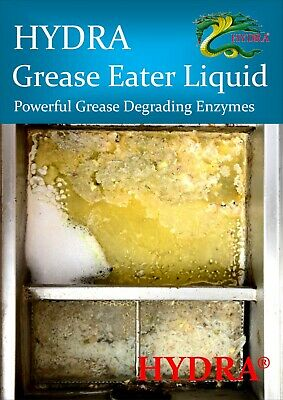 HYDRA GREASE EATER ENZYME LIQUID Grease Trap Drain Cleaner Remove Fat Oil Grease 5
