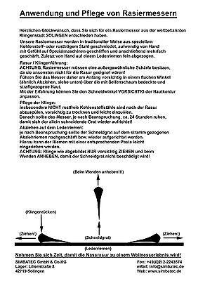 RAZOLUTION Solingen Rasiermesser 5/8 Carbonstahl straight razor бритва Germany 3