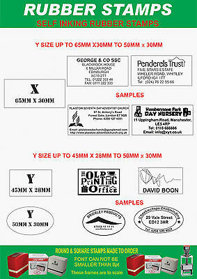 PERSONALISED SELF INKING RUBBER STAMP,12mm x 12mm K -SMALL LOGO OR LOYALTY CARDS 5