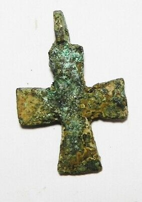 Zurqieh - As13514- Ancient Holy Land. Byzantine Bronze Cross. 800 - 1000 A.d 2