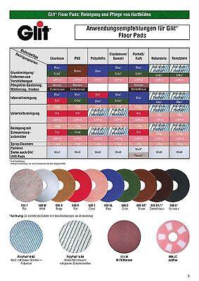 """Glit Floor Superpad Braun 17/"""" 432 mm Reinigungspad Pad Reinigung Maschinenpad"""