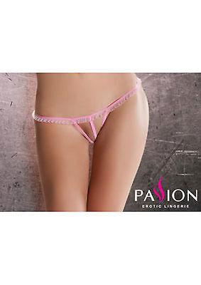Sexy Micro Perizoma Cavallo Aperto Rosa Lingerie Pink Open String Thong Passion 3