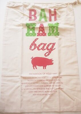 Christmas Ham Bag Xmas Large Size 61cm X 41cm 100% Cotton 4 Designs BRAND NEW !! 6