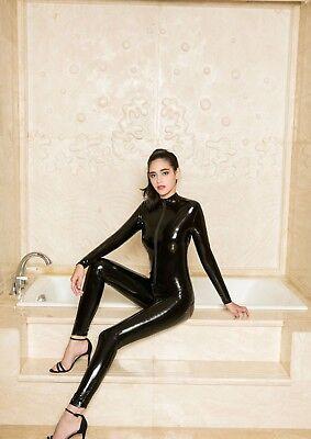 Completo Tuta Mistress Cavallo Aperto Latex Aderente Clubwear Dominatrice Lucido 12
