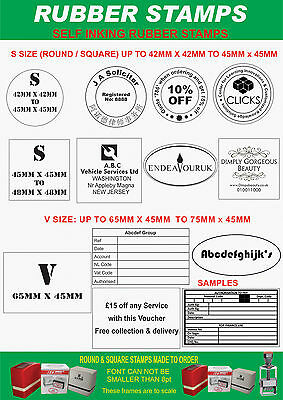 PERSONALISED SELF INKING RUBBER STAMP,12mm x 12mm K -SMALL LOGO OR LOYALTY CARDS 4