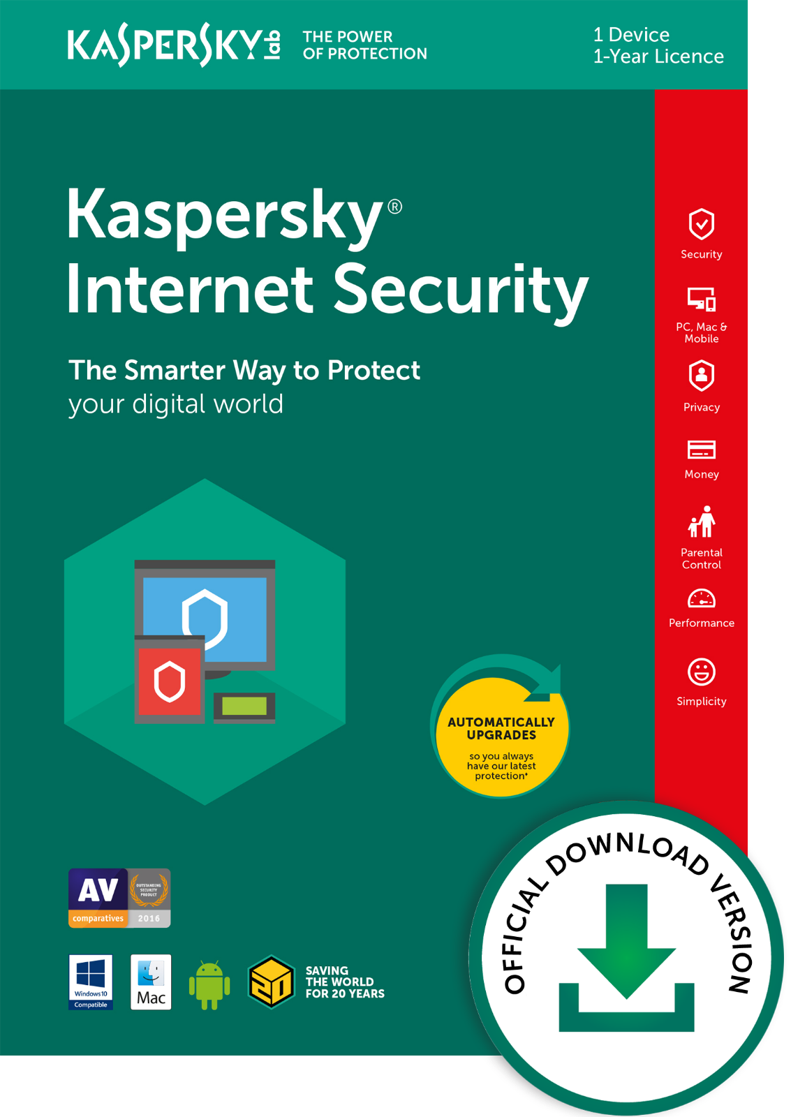 Kaspersky Internet Security 2019 1 User Licence Only For 1 Year Email Only Eu 2