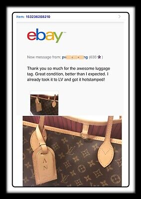 100% Authentic Louis Vuitton Large Luggage Name ID Tag - Made in France -1 PIECE 4