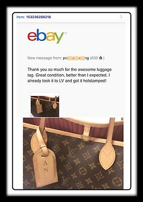 Authentic Louis Vuitton Large Name Tag  Older- One pc. 10