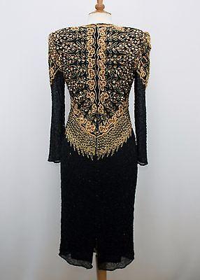 Jasdee Vintage Dress Long Sleeve Bead & Sequins Hand Work On Silk Style 5063 2