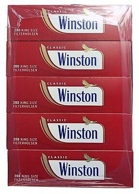 4 x Winston Tabak/Volumentabak Mega Boxes 185g, 2.000 Hülsen, Feuerz., Box 3
