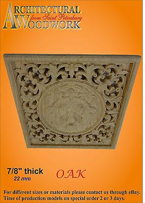 Wooden carved decor with Lion Head 5