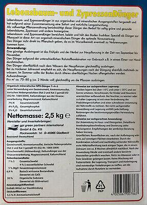 # 10 kg LEBENSBAUM & ZYPRESSENDÜNGER,Koniferen,Dünger,Tannen,Nadelbaum 4x 2,5kg 2