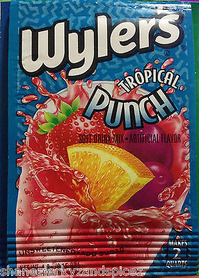 WYLERS  SOFT DRINK MIX  PACKETS kool-aid fruit drink   cherry punch~SHANEZ