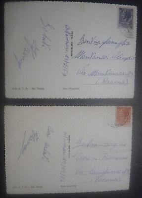 Catanzaro - 2 Cartoline Anni '50 - Piazza E Rione San Leonardo 2