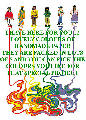 Sheets Colourful Lokta A4 Paper Superior Quality Pick Your Own Colours