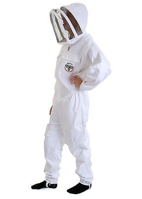 BUZZ Bee suit with fencing veil and white leather Gloves - All sizes available 2