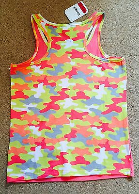 Girls Reebok Pink Vest Top - Age 14 2